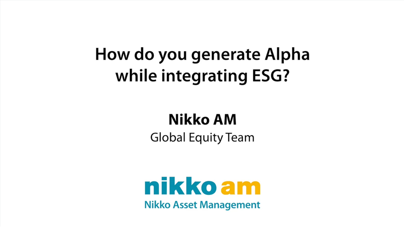 How do you generate Alpha while integrating ESG?